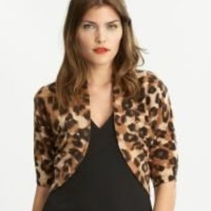 Nwt Banana Republic Leopard Animal Prnt Cardigan L